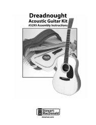 Download Dreadnought Guitar Kit Instructions - Stewart-MacDonald