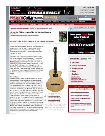 Schertler SM AcousticElectric Guitar Review - schertler guitars
