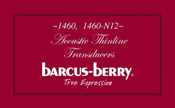 Acoustic Thinline Transducers - Barcus Berry
