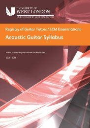 LCM Exams / RGT: Acoustic Guitar Grades Syllabus - Registry of ...