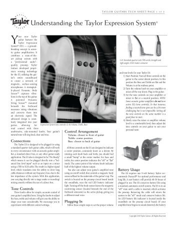 Understanding the Taylor Expression System® - Taylor Guitars