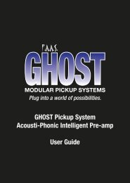 GHOST Pickup System Acousti-Phonic Intelligent Pre ... - Graph Tech