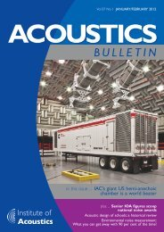 Acoustics Bulletin Jan-Feb 2012 - Institute of Acoustics