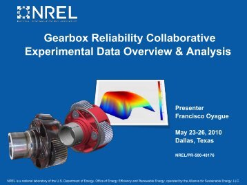 Gearbox Reliability Collaborative Experimental Data Overview - NREL