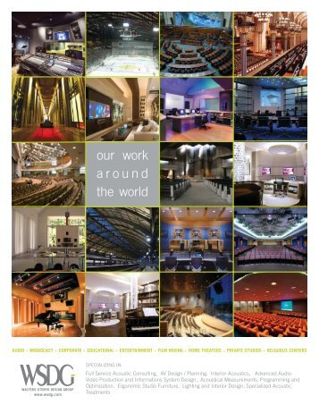 091006 brochure.indd - WSDG - Acoustics and Audio/Video Design ...