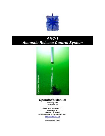 ARC-1 Acoustic Release Control System - Esonet Yellow Pages