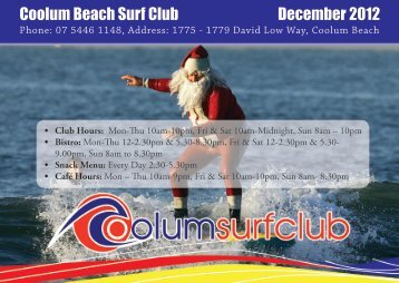 Coolum Beach Surf Club December 2012 - Coolum Beach Surf Life ...