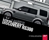 Land Rover Discovery RS300 - A Kahn Design