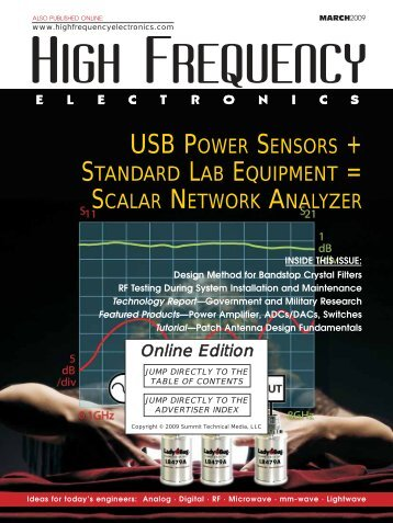 High Frequency Electronics — March 2009 Online Edition
