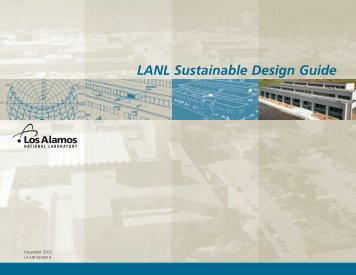 LANL Sustainable Design Guide - National Nuclear Security ...