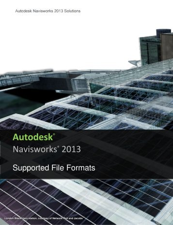 Navisworks 2013 - Supported Formats and Applications - Autodesk