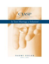 Is Teen Marriage a Solution? - Center for Law and Social Policy