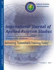 International Journal of Applied Aviation Studies - FAA