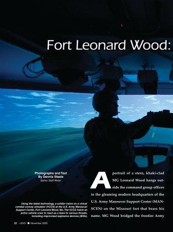 Aportrait of a stern, khaki-clad MG Leonard Wood hangs out- side ...