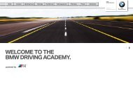 WELCOME TO THE BMW DRIVING ACADEMY. - BMW.com
