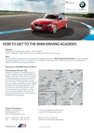 HOW TO GET TO THE BMW DRIVING ACADEMY. - BMW.com