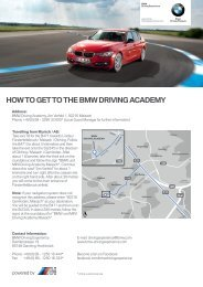 HOW TO GET TO THE BMW DRIVING ACADEMY - Mini