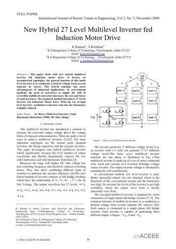 New Hybrid 27 Level Multilevel Inverter fed Induction - International ...