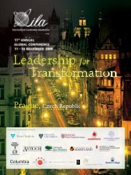 Prague, Czech Republic - International Leadership Association