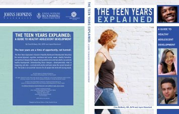 THe Teen YeaRS - Johns Hopkins Bloomberg School of Public Health