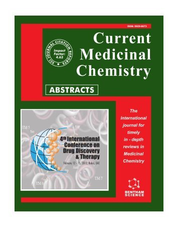 Current Medicinal Chemistry - 5th International Conference on Drug ...