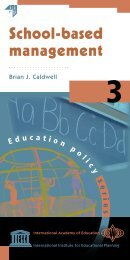 School-based management - International Academy of Education