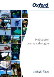 Helicopter course catalogue - Oxford Aviation Academy