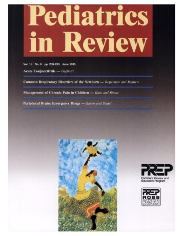 Front Matter (PDF) - Pediatrics in Review