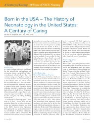 Born in the USA – The History of Neonatology in ... - Abbott Nutrition