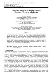 Fairness of Financial Severance Package ... - EuroJournals