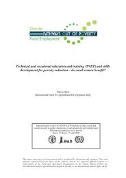 Technical and vocational education and training (TVET) - Food ...