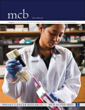 breast cancer research • mcb as pre-med - The School of Molecular ...