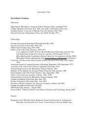 Curriculum Vitae David Hodes Friedman Education: High School ...
