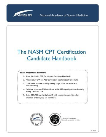 FAQ Personal Trainer For NASM Certification What Is