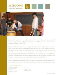 Music Department Informational Booklet - Dartmouth College