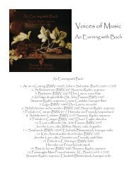 Booklet - Voices of Music
