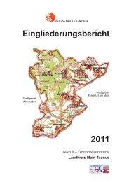 Eingliederungsbericht 2011 - Main-Taunus-Kreis