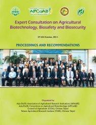 Expert Consultation on Agricultural Biotechnology - Apcoab
