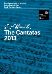 Bach Cantatas 2013 - Royal Academy of Music