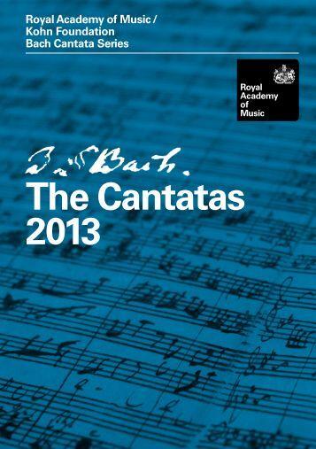 Bach Cantatas 2013 - Royal Academy of Music