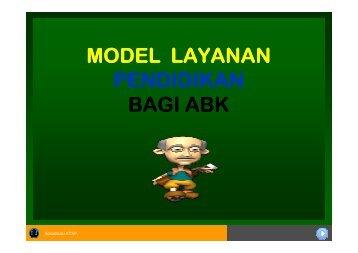 model layanan pendidikan bagi abk
