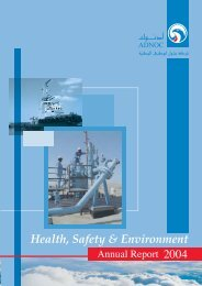 2004 Annual HSE Report - Adnoc
