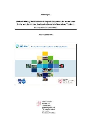 Neubearbeitung des Abwasser-Kompakt-Programms ... - LANUV NRW