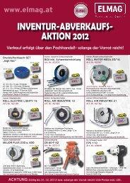 INVENTUR-ABVERKAUFS- AKTION 2012 - Elmag