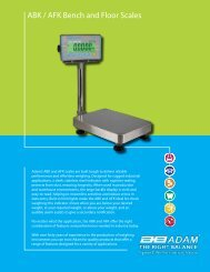 ABK / AFK Bench and Floor Scales - Adam Equipment