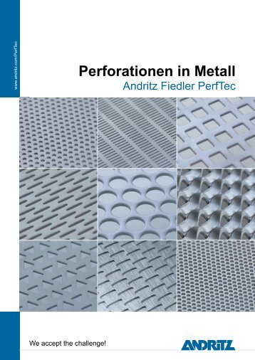 Perforationen in Metall