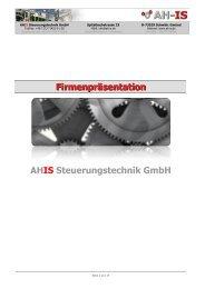 AH-IS Online Präsentation - AHIS Steuerungstechnik GmbH