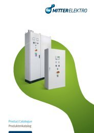 Produktenkatalog Product Catalogue - Mitter Elektro