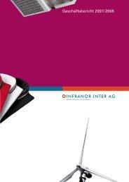 Geschäftsbericht 2007/2008 - Infranor