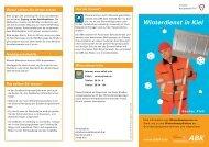 Winterdienst in Kiel (PDF) - Abfallwirtschaftsbetrieb Kiel